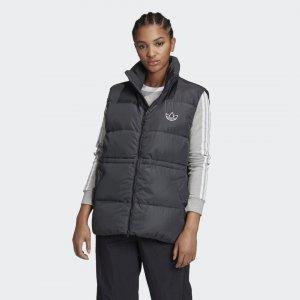 Пуховый жилет Originals adidas. Цвет: черный