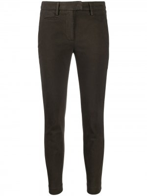 Slim-fit cotton trousers Dondup. Цвет: серый