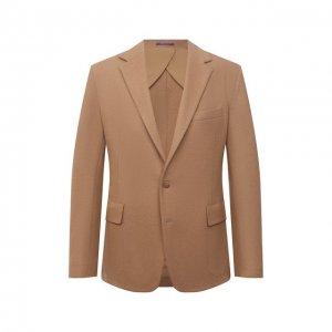 Шерстяной пиджак Ralph Lauren. Цвет: бежевый