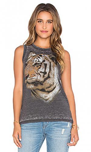 Майка-борцовка tiger face Chaser. Цвет: уголь