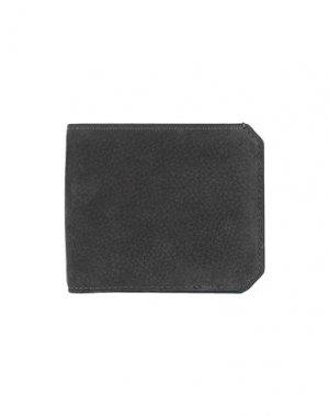 Бумажник SANTONI. Цвет: стальной серый