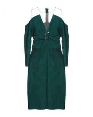 Платье до колена JITROIS. Цвет: изумрудно-зеленый