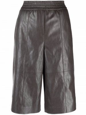 Faux-leather shorts Luisa Cerano. Цвет: серый