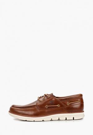 Топсайдеры Timberland Tidelands Boat Shoes. Цвет: коричневый