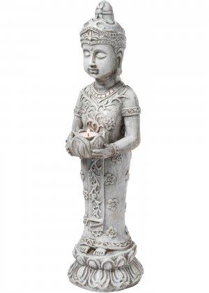 Фигурка-подсвечник Будда bonprix. Цвет: серый