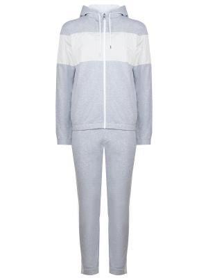 Хлопковый спортивный костюм MICHAEL KORS. Цвет: серый