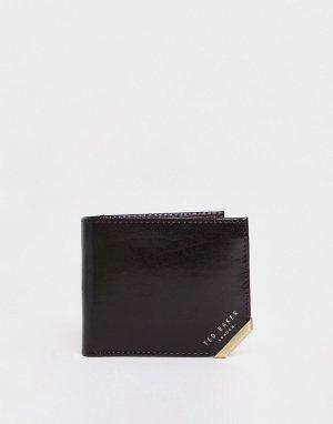 Коричневый кожаный бумажник Korning-Коричневый цвет Ted Baker