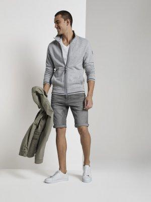 Джинсовые шорты TOM TAILOR. Цвет: серый