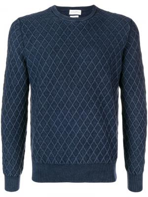 Вязаный свитер с узором Ballantyne. Цвет: синий