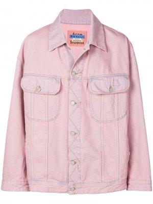 Джинсовая куртка Peppeur Acne Studios. Цвет: розовый