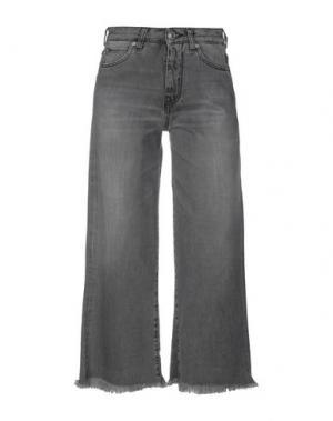 Джинсовые брюки-капри 2W2M. Цвет: свинцово-серый