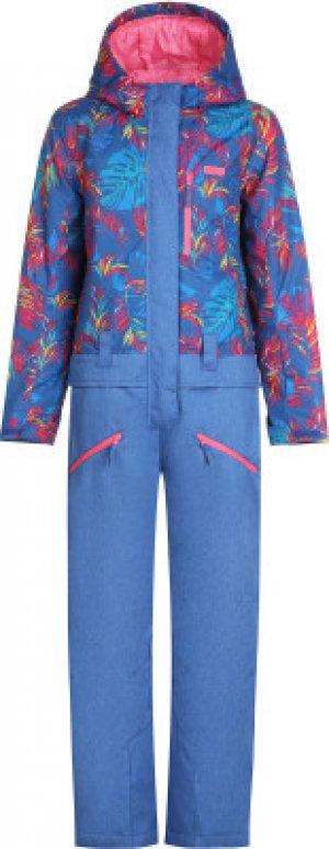 Комбинезон для девочек , размер 152 Termit. Цвет: синий