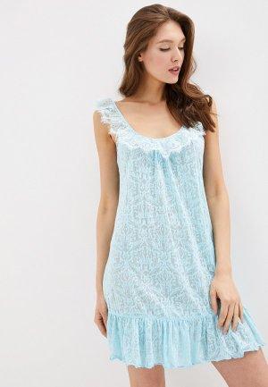 Сорочка ночная Balancelle. Цвет: голубой