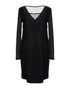 Короткое платье BOSS HUGO. Цвет: черный