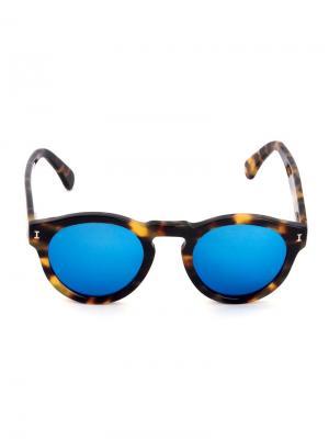 ILLESTEVA LEONARDI1048C11 Tartaruga lente azul espelhada ??? Acetate. Цвет: коричневый