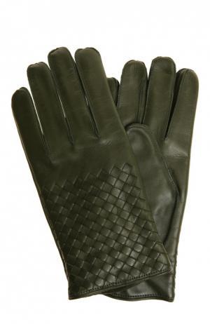 Перчатки Bottega Veneta. Цвет: зеленый