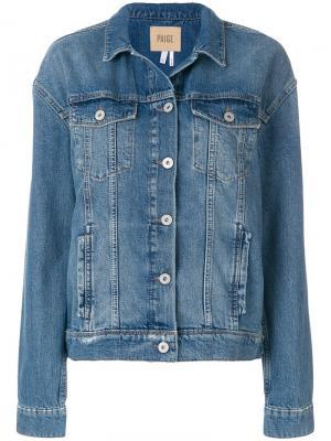 Классическая джинсовая куртка Paige. Цвет: синий