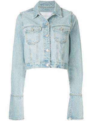 Укороченная джинсовая куртка Seam Nobody Denim. Цвет: синий