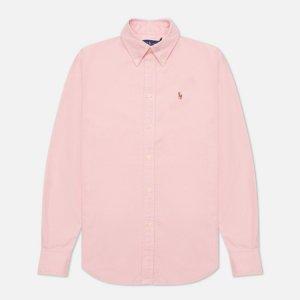 Женская рубашка Kendal Washed Oxford Slim Fit Polo Ralph Lauren. Цвет: розовый
