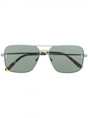 Солнцезащитные очки-авиаторы Stella McCartney Eyewear. Цвет: зеленый