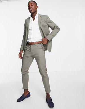 Зеленые укороченные брюки узкого кроя Premium-Зеленый цвет Jack & Jones
