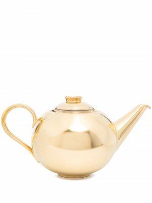 Заварочный чайник и чайное ситечко Emperors Garden Fürstenberg. Цвет: золотистый