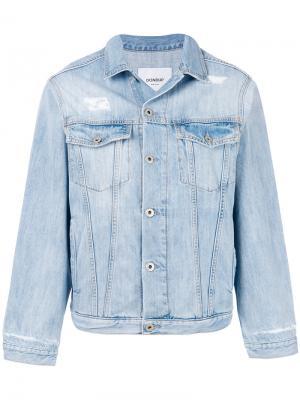 Джинсовая куртка с потертой отделкой Dondup. Цвет: синий