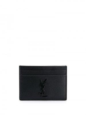 Картхолдер с логотипом Saint Laurent. Цвет: черный