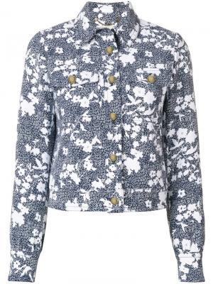 Джинсовая куртка с принтом Michael Kors. Цвет: синий