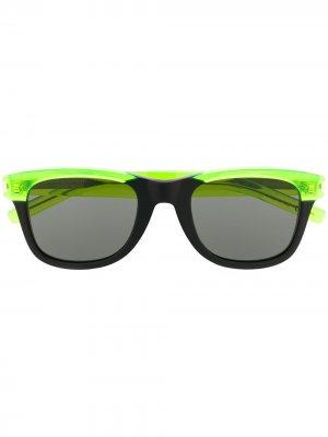 Солнцезащитные очки SL51 в трапециевидной оправе Saint Laurent Eyewear. Цвет: зеленый