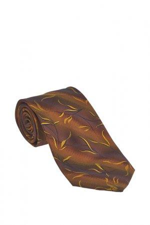 Галстук Basile. Цвет: коричневый, желтый в рисунок