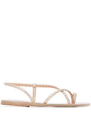 Сандалии Fysi с эффектом металлик Ancient Greek Sandals. Цвет: золотистый