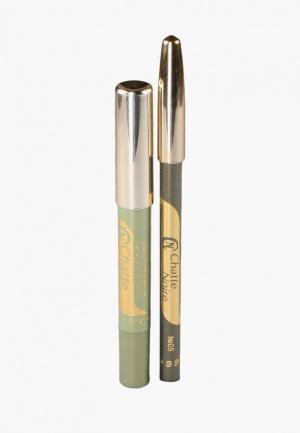 Набор для макияжа глаз Chatte Noire Карандаш +  Карандаш-тени №60, 3,21. Цвет: зеленый