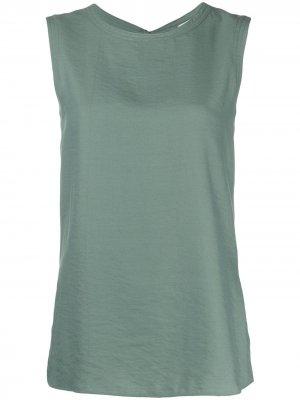 Блузка без рукавов с завязками Alysi. Цвет: зеленый