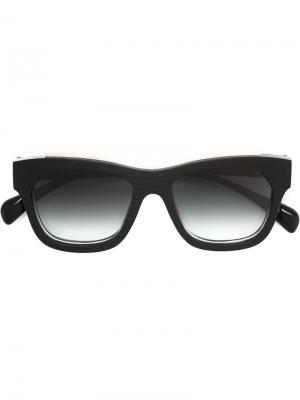 Солнцезащитные очки с кожаными вставками Marsèll. Цвет: черный