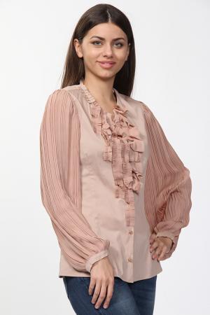 Рубашка Anna Rita N. Цвет: бежевый