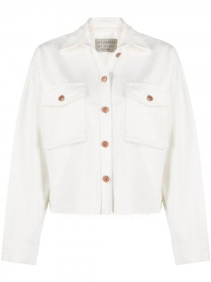 Джинсовая куртка-рубашка Sol AllSaints. Цвет: белый