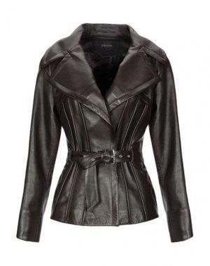 Куртка JITROIS. Цвет: темно-коричневый