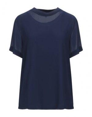 Блузка JEFF. Цвет: темно-синий