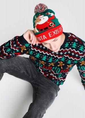 Новогодняя шапка с лампочками O`Stin. Цвет: зеленый