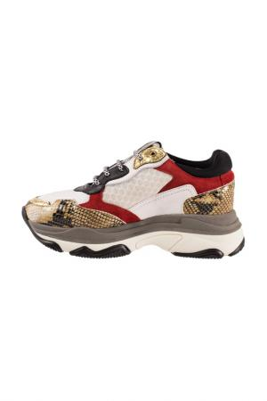 Sneakers Roobins. Цвет: white, red, brown