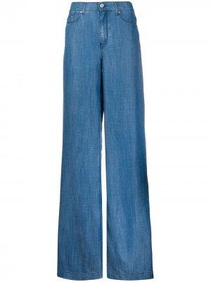 Джинсы широкого кроя с завышенной талией Karl Lagerfeld. Цвет: синий