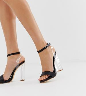 Прозрачные сандалии для широкой стопы Truffle Collection