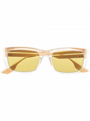 Солнцезащитные очки в квадратной оправе Dita Eyewear. Цвет: нейтральные цвета