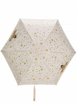 Зонт Teddy Bear с принтом Moschino. Цвет: нейтральные цвета
