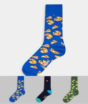 3 пары носков в подарочной упаковке -Мульти Happy Socks