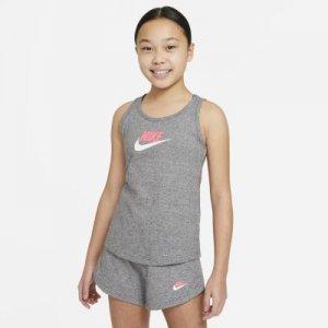 Майка из ткани джерси для девочек школьного возраста Sportswear - Серый Nike
