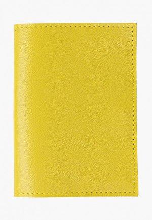 Обложка для паспорта Kokosina. Цвет: желтый