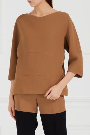 Блузка из крепа Chapurin. Цвет: желтый