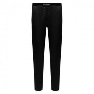 Домашние шелковые шорты Tom Ford. Цвет: чёрный